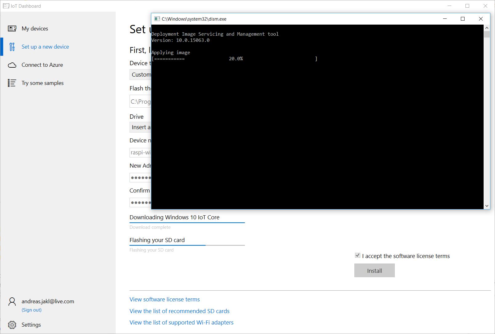 Installing Windows 10 IoT Core on a Raspberry Pi