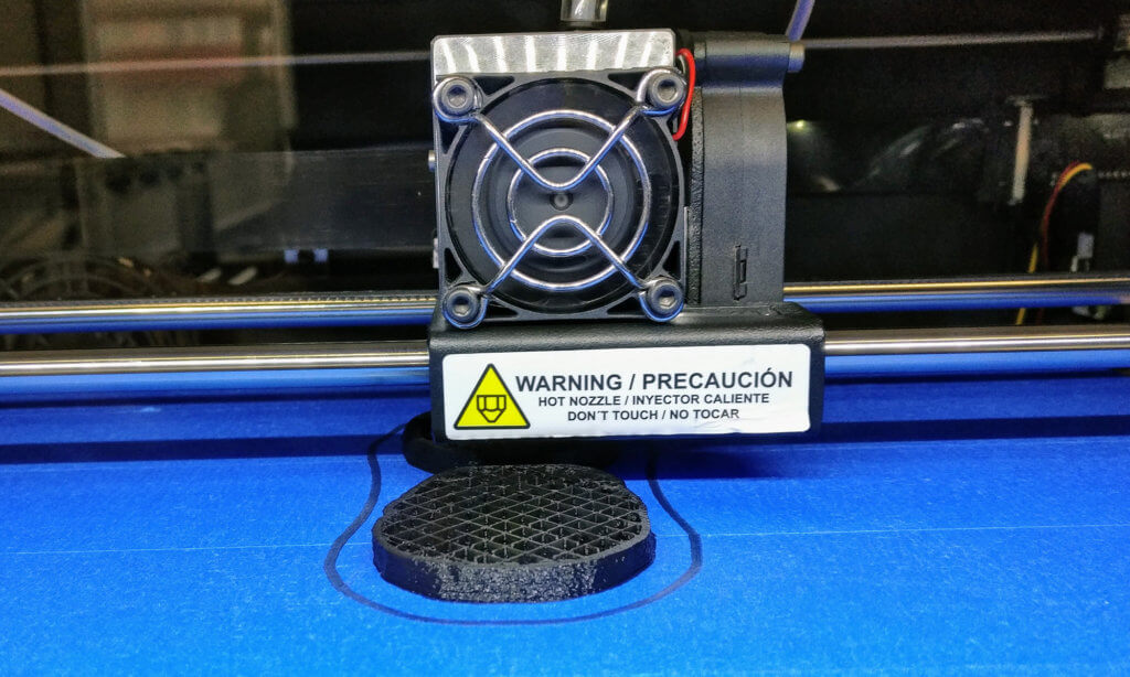 3D printing the two brain halves using the Witbox 2