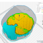 Support material for the 3D printed brain in Cura