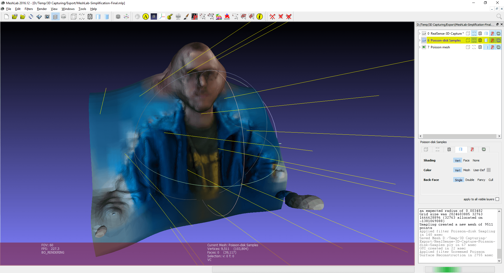 Capturing a 3D Point Cloud with Intel RealSense and