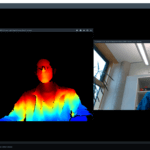 Depth and Color images from the RealSense Viewer