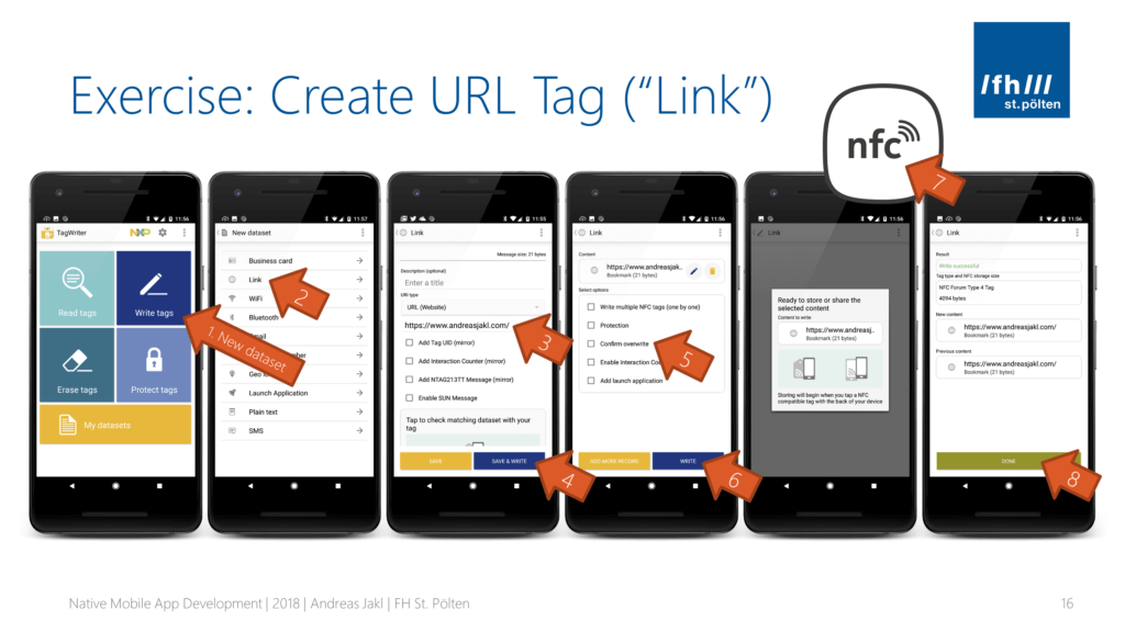 Write an NFC URL Tag with NXP TagWriter for Android