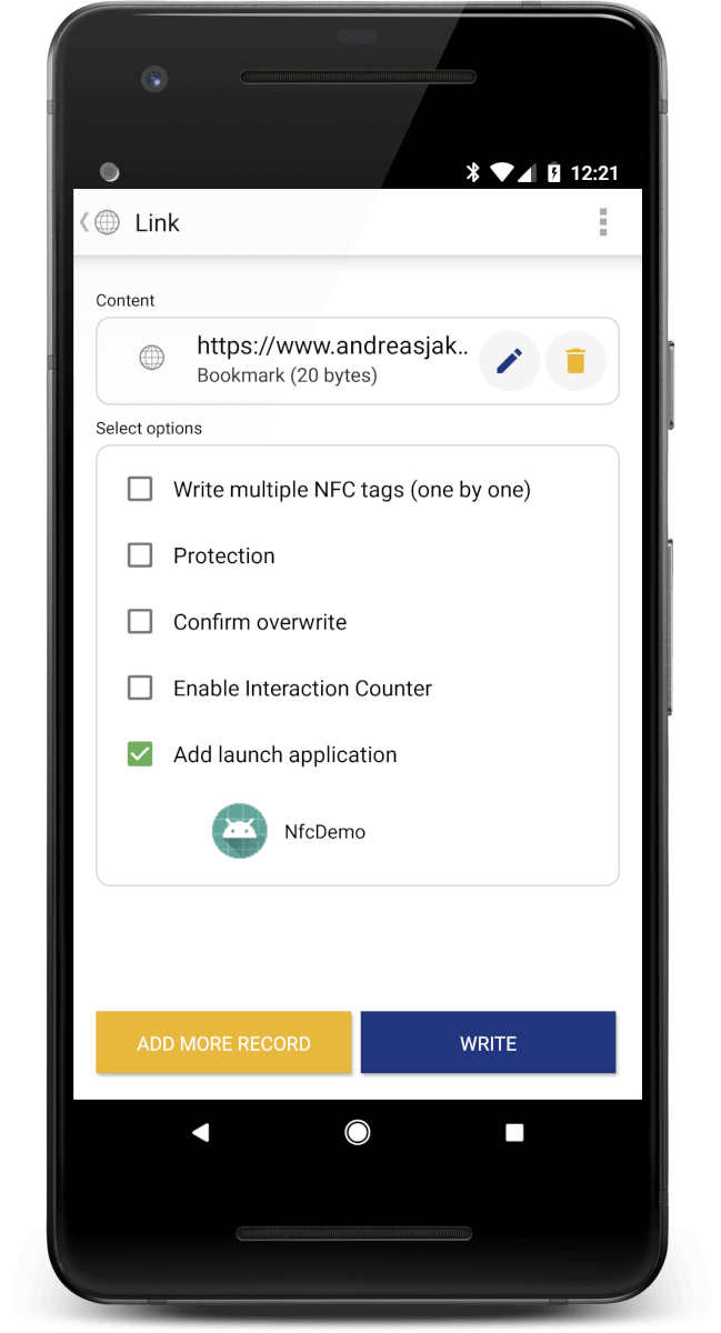 NFC Tags, NDEF and Android (with Kotlin) – andreasjakl com