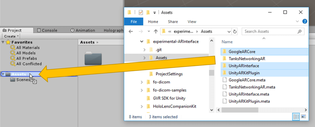 Unity: Importing ARInterface Assets