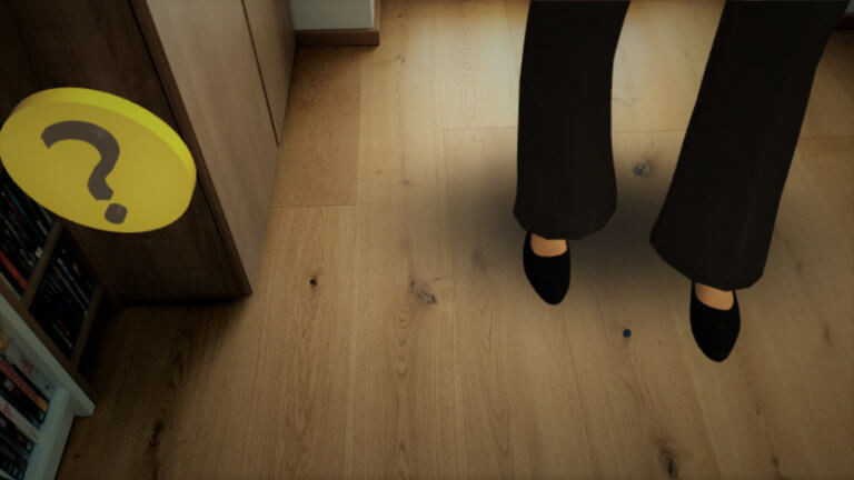 Repositioning your AR objects on the floor with Amazon Sumerian