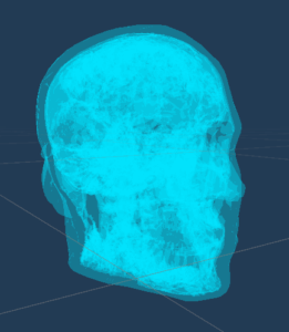 3D model of a transparent skull. Use this as object to place in your AR scene.